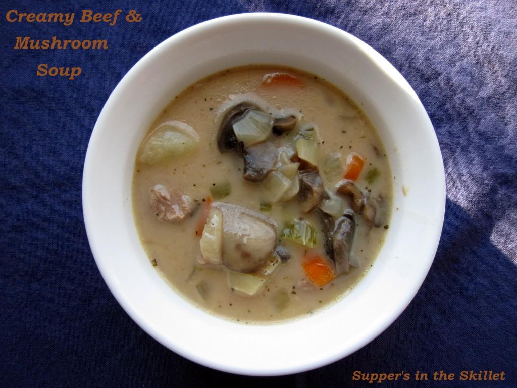 Creamy Beef Mushroom Soup (4.1)