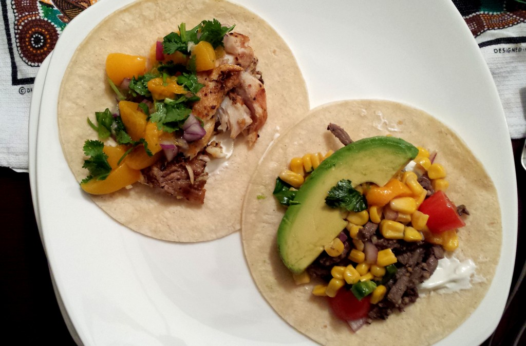 Fish and Steak Tacos