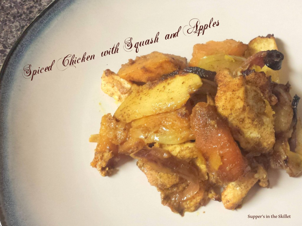 Spiced Chicken with Squash and Apples
